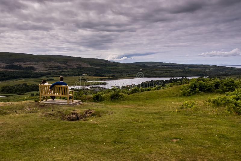 Χαρακτηριστικό landscapeof το νησί Mull, εσωτερικό Hebride στοκ εικόνα