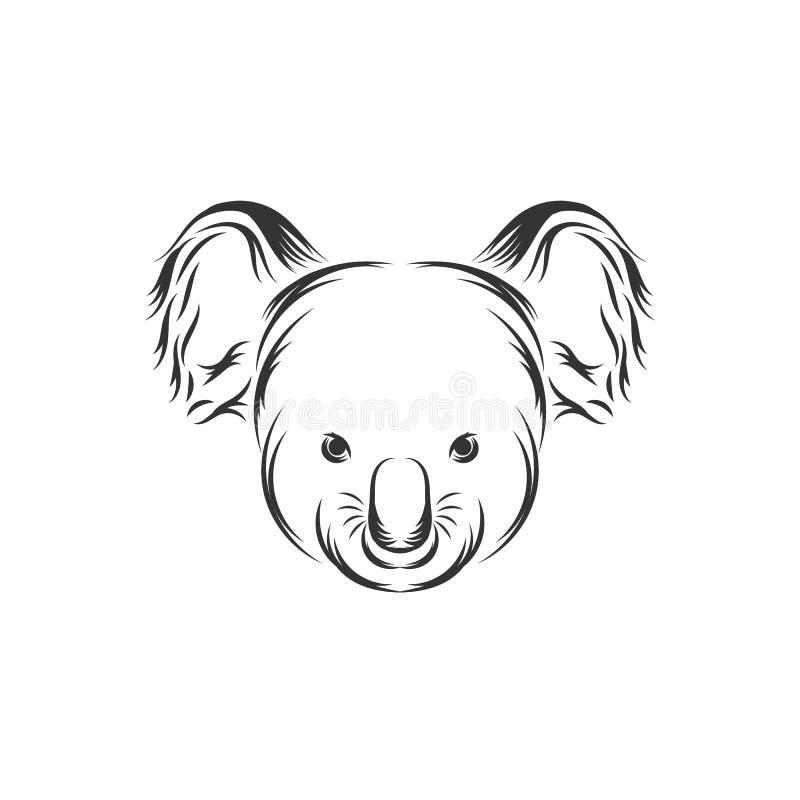 Χαριτωμένο διανυσματικό εικονίδιο προσώπου Koala διανυσματική απεικόνιση