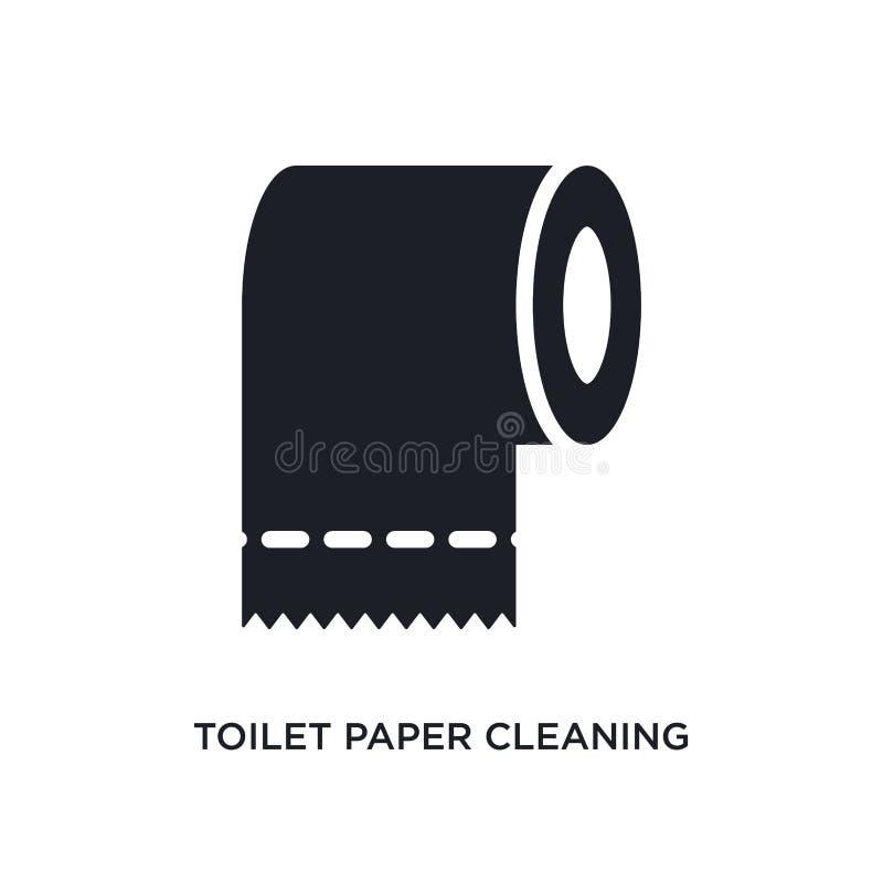 χαρτί τουαλέτας που καθαρίζει το απομονωμένο εικονίδιο απλή απεικόνιση στοιχείων από τον καθαρισμό των εικονιδίων έννοιας χαρτί τ ελεύθερη απεικόνιση δικαιώματος