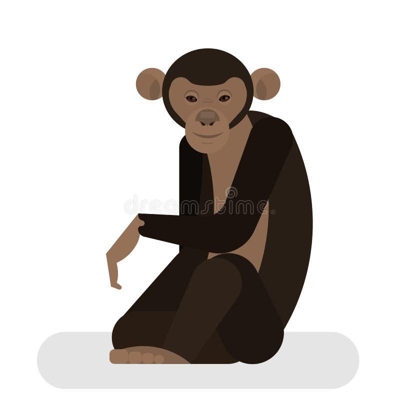 Χιμπατζής από τη ζούγκλα Αφρικανικός χαρακτήρας πιθήκων ελεύθερη απεικόνιση δικαιώματος