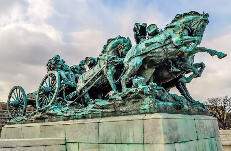 Χρέωση του γλυπτού εμφύλιου πολέμου στην Ουάσιγκτον Δ Γ στοκ εικόνες