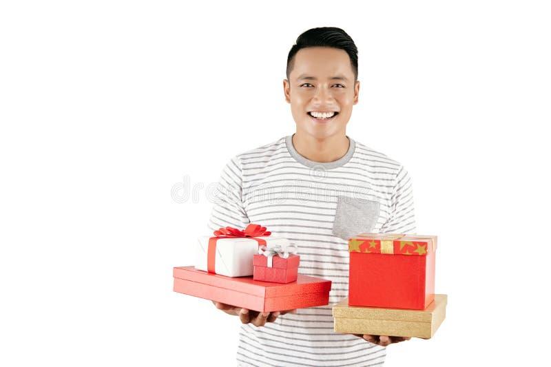 Χρόνος για τα δώρα Χριστουγέννων στοκ εικόνες