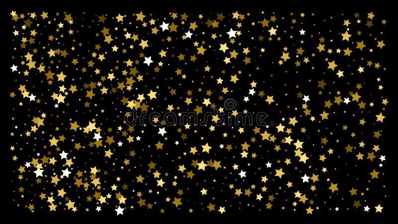 Χρυσά αστέρια Εορτασμός κομφετί ελεύθερη απεικόνιση δικαιώματος