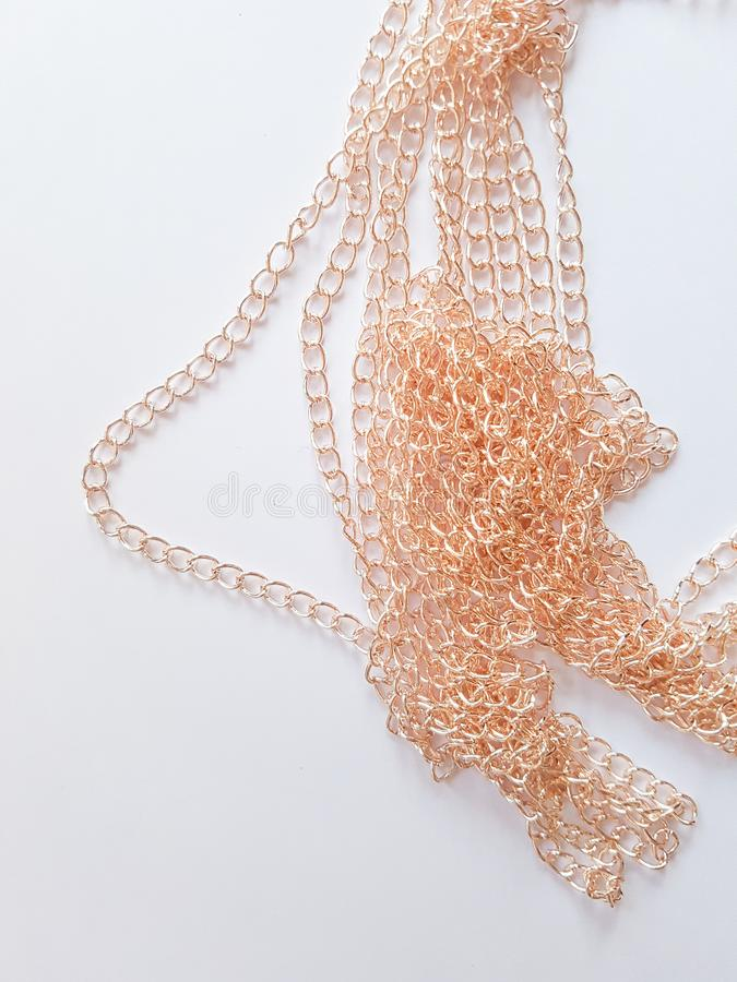 Χρυσές συνδέσεις αλυσίδων στοκ εικόνες