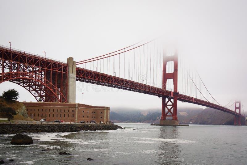 Χρυσή γέφυρα πυλών του Σαν Φρανσίσκο Καλιφόρνια ΗΠΑ στοκ εικόνες με δικαίωμα ελεύθερης χρήσης