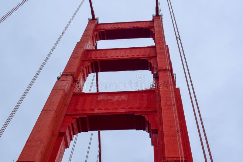 Χρυσή εστίαση πύργων γεφυρών πυλών στοκ φωτογραφία με δικαίωμα ελεύθερης χρήσης
