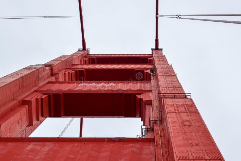 Χρυσή εστίαση πύργων γεφυρών πυλών στοκ φωτογραφία