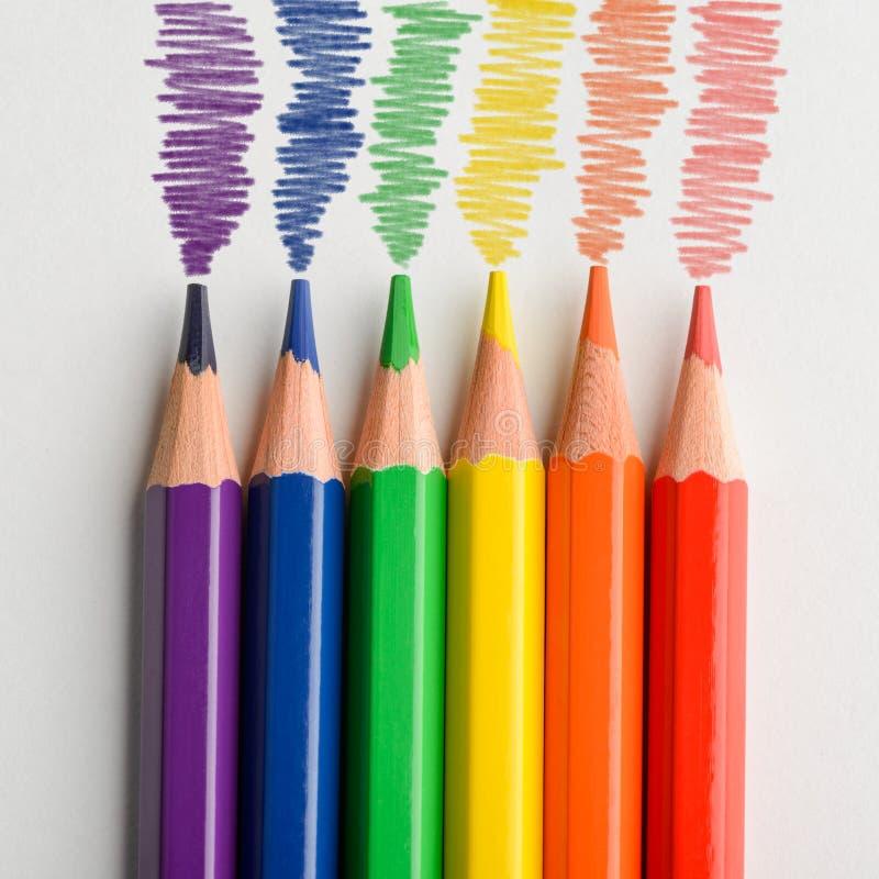 Χρωματισμένο μολύβι doodles στοκ εικόνες