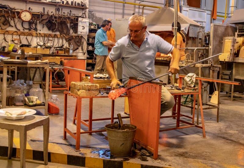 Υαλουργία στο νησί Murano στοκ εικόνα με δικαίωμα ελεύθερης χρήσης