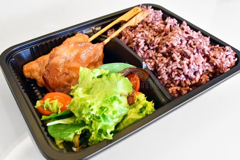 Υγιές ταϊλανδικό καθορισμένο μεσημεριανό γεύμα ύφους στοκ φωτογραφίες