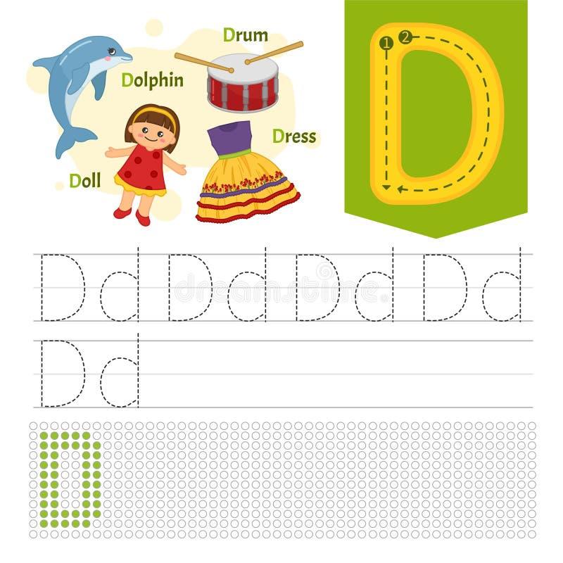 Υλικό εκμάθησης παιδιών απεικόνιση αποθεμάτων