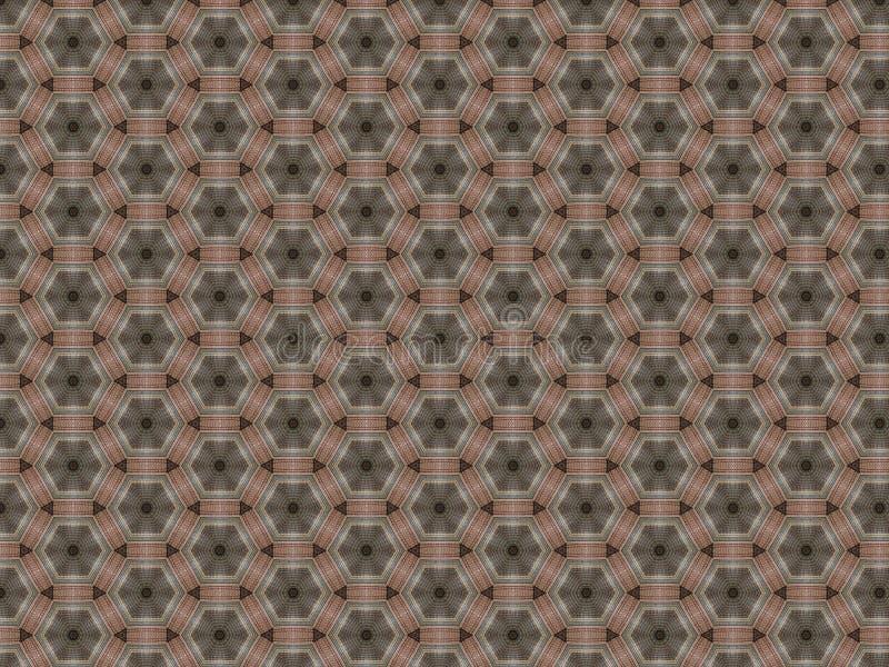 Υφαμένη hexagon μορφή σχεδίων ταπήτων και μικρά τρίγωνα στοκ φωτογραφίες