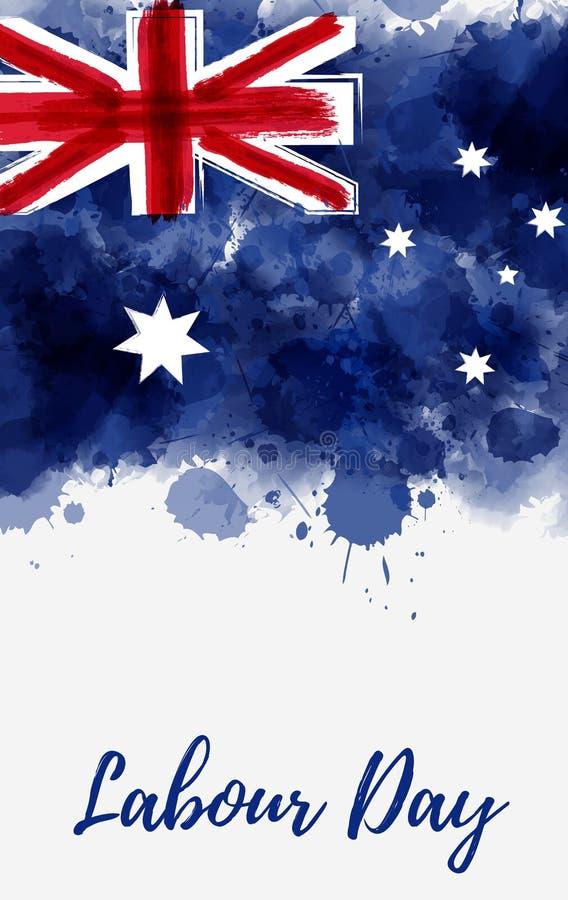 Υπόβαθρο διακοπών ημέρας εργασίας της Αυστραλίας διανυσματική απεικόνιση