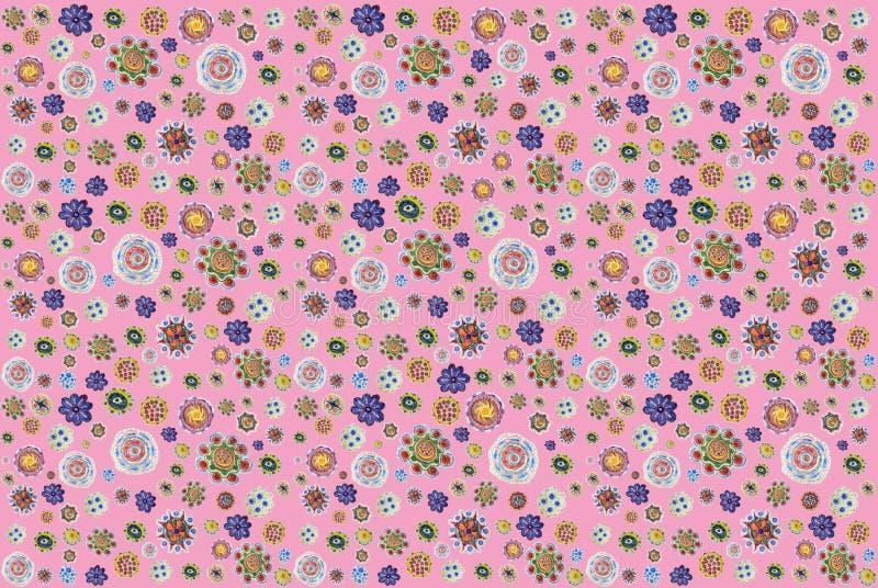 Υπόβαθρο των μολύβι-συρμένων ζωηρόχρωμων λουλουδιών Σχέδιο σχεδίων χεριών στοκ εικόνα με δικαίωμα ελεύθερης χρήσης