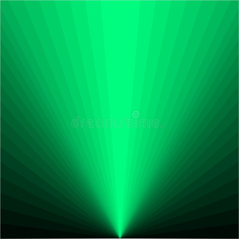 Υπόβαθρο των πράσινων ακτίνων ελεύθερη απεικόνιση δικαιώματος
