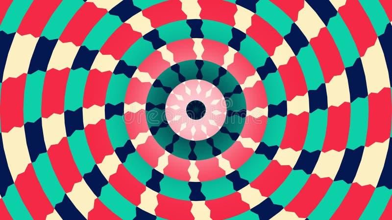 Υπόβαθρο πολύχρωμο με τους ακτινωτούς κύκλους ελεύθερη απεικόνιση δικαιώματος