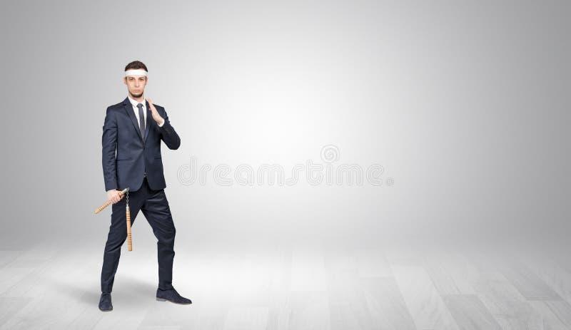 Πάλη επιχειρηματιών σε ένα κενό διάστημα στοκ φωτογραφία
