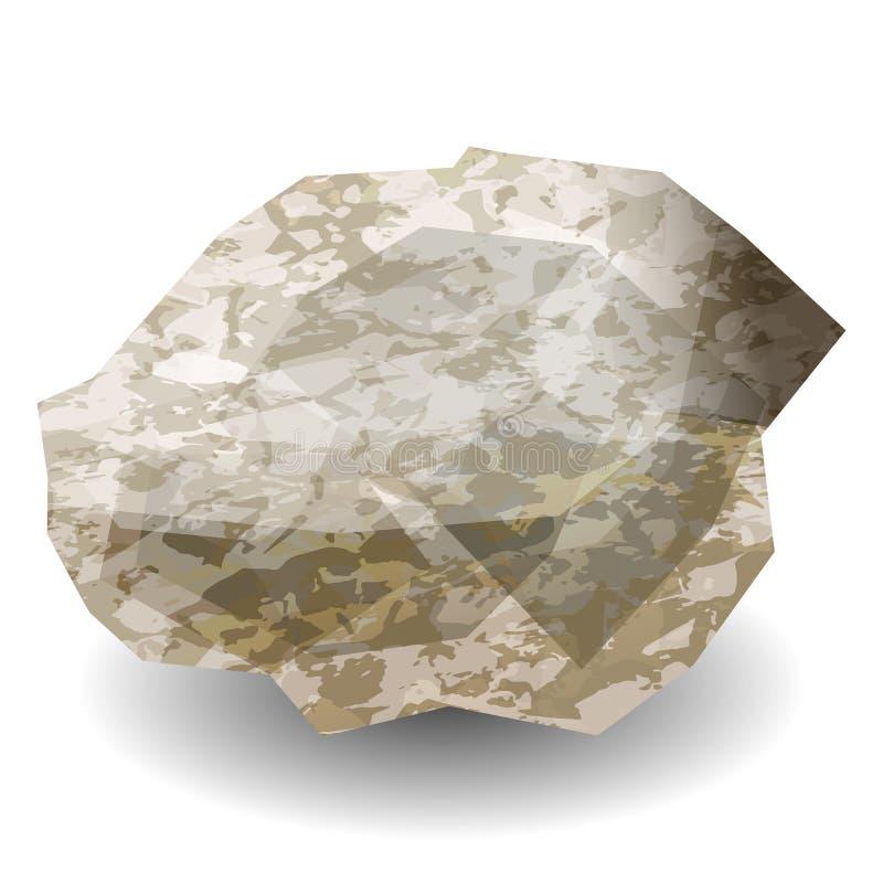 Πέτρα διαμαντιών τραχιά Πολύτιμος λίθος, πολύτιμος λίθος, μετάλλευμα ελεύθερη απεικόνιση δικαιώματος