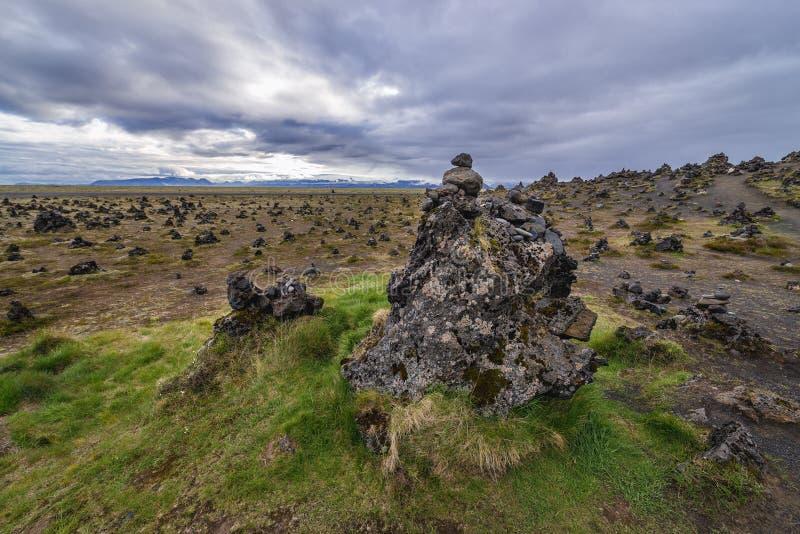 Πέτρινοι τύμβοι στην Ισλανδία στοκ εικόνα με δικαίωμα ελεύθερης χρήσης
