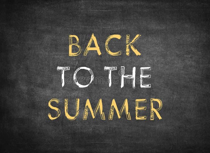 πίσω στο καλοκαίρι στοκ εικόνες
