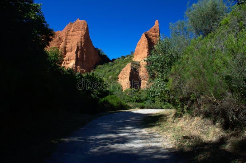 Παγκόσμια κληρονομιά της ΟΥΝΕΣΚΟ Medulas Las κοντά Ponferrada Καστίλλη και Leon Ισπανία στοκ εικόνα με δικαίωμα ελεύθερης χρήσης