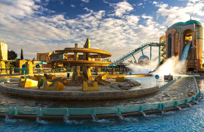 Παγκόσμιο θεματικό πάρκο θάλασσας του Σαν Ντιέγκο Καλιφόρνια γύρου ιπποδρομίων Atlantis στοκ φωτογραφίες με δικαίωμα ελεύθερης χρήσης