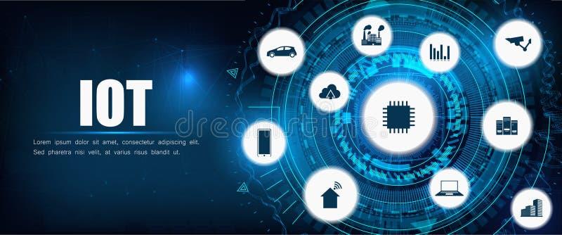 Παγκόσμιο δίκτυο παγκόσμιων τηλεπικοινωνιών IOT απεικόνιση αποθεμάτων