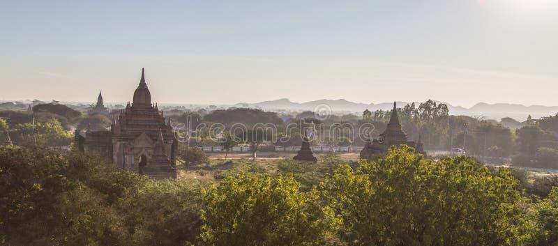 Παγόδες το πρωί, pugan, Myanmar στοκ εικόνες