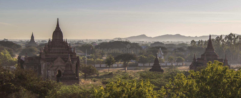 Παγόδες το πρωί, pugan, Myanmar στοκ φωτογραφία με δικαίωμα ελεύθερης χρήσης