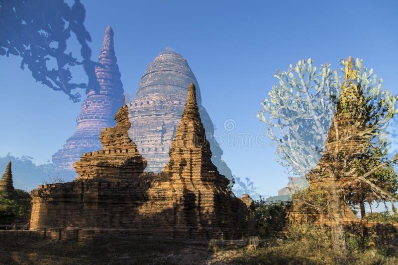 Παγόδες το πρωί, pugan, Myanmar στοκ εικόνα