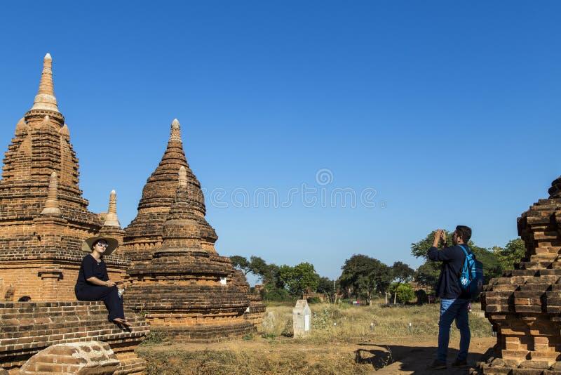 Παγόδες το πρωί, pugan, Myanmar στοκ εικόνες με δικαίωμα ελεύθερης χρήσης