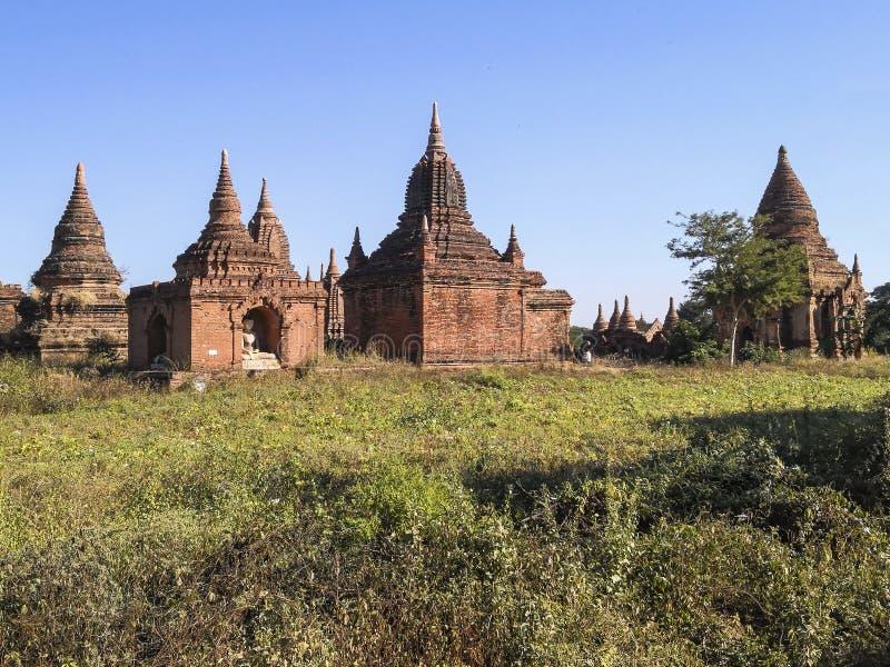 Παγόδες το πρωί, pugan, Myanmar στοκ φωτογραφία