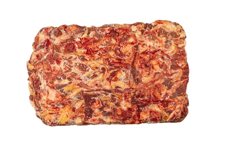 Παγωμένος φραγμός του βόειου κρέατος σε ένα άσπρο υπόβαθρο στοκ φωτογραφία με δικαίωμα ελεύθερης χρήσης