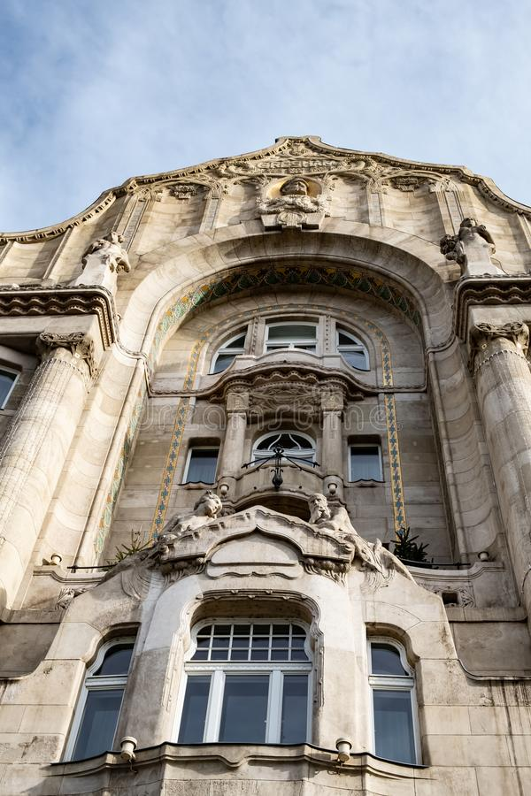 Παλάτι Gresham ξενοδοχείων του Four Seasons, λεπτομέρεια προσόψεων στοκ εικόνες