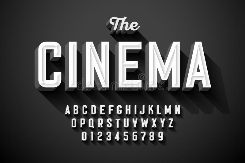 Παλαιά εκλεκτής ποιότητας πηγή τίτλου κινηματογράφων απεικόνιση αποθεμάτων