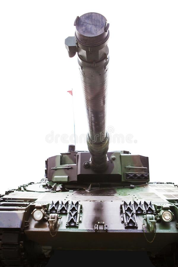 Παλαιά στρατιωτική δεξαμενή με θωρακισμένο στο στούντιο στοκ εικόνες με δικαίωμα ελεύθερης χρήσης