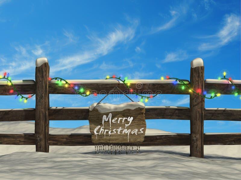 Παλαιά φραγή στα Χριστούγεννα ελεύθερη απεικόνιση δικαιώματος