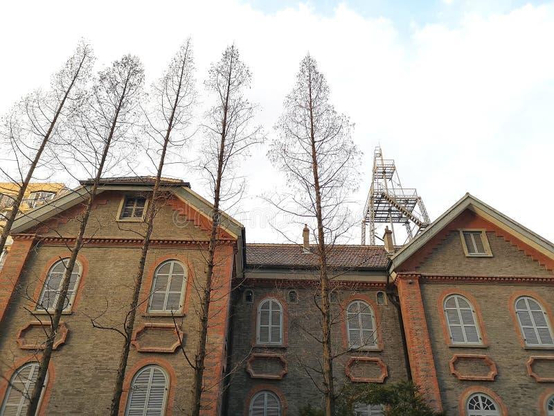 Παλαιά παλαιά περιοχή του αστρονομικού παρατηρητήριου στη Σαγκάη, Κίνα στοκ εικόνα με δικαίωμα ελεύθερης χρήσης