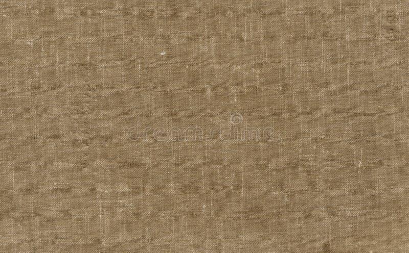 Παλαιό βρώμικο σχέδιο καμβά με το βρώμικο σημείο στο καφετί χρώμα στοκ φωτογραφία με δικαίωμα ελεύθερης χρήσης