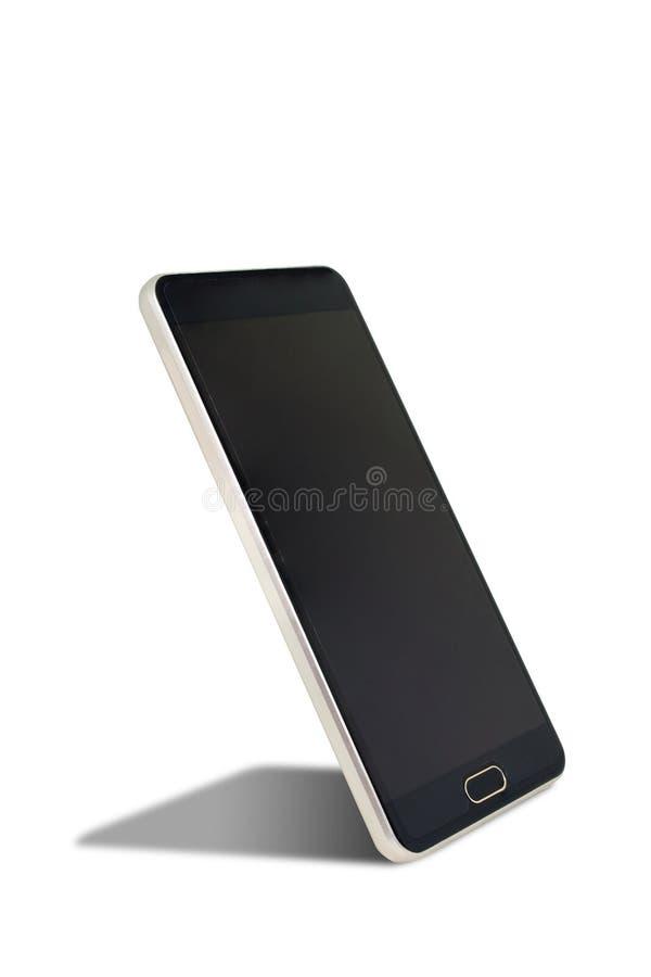 Παλαιό μαύρο smartphone με τη σκιά που απομονώνεται στο άσπρο υπόβαθρο στοκ εικόνα με δικαίωμα ελεύθερης χρήσης