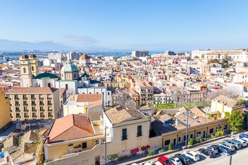 Πανόραμα νησί του Κάλιαρι, Σαρδηνία, Ιταλία στοκ εικόνα με δικαίωμα ελεύθερης χρήσης