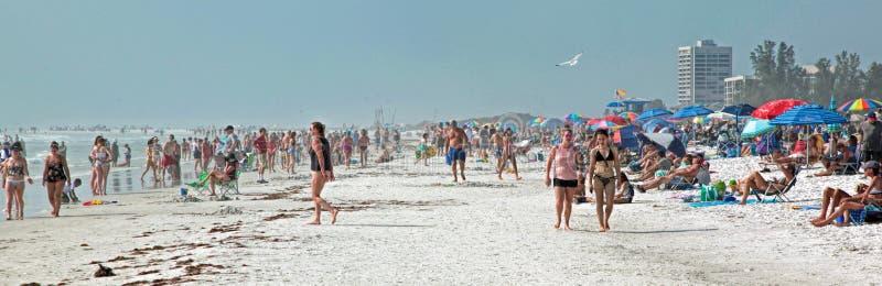 Παραλία σιέστας, Φλώριδα Η πιό δροσερή άμμος παραλιών στοκ εικόνες