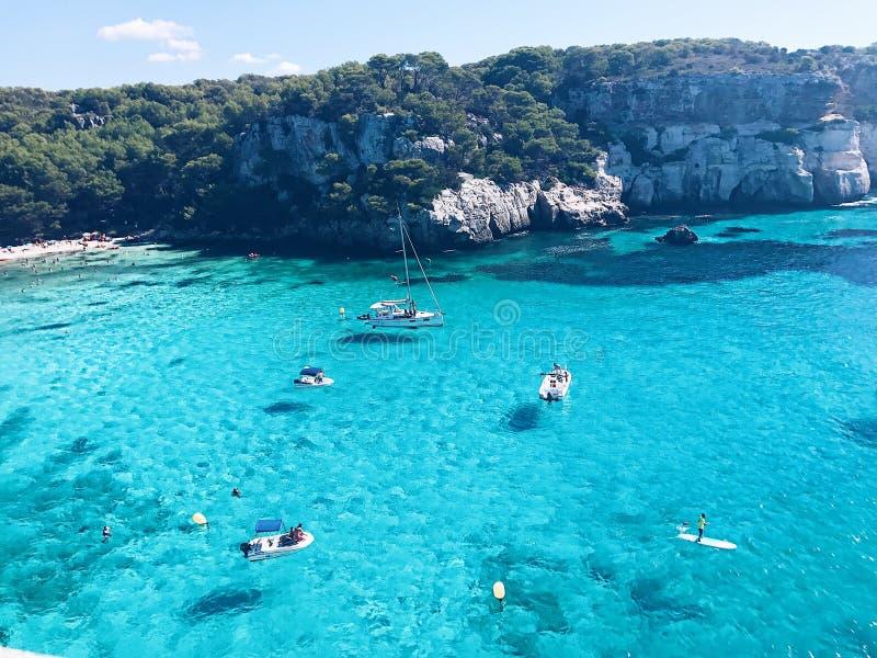 Παραλία Macarella, Menora, Βαλεαρίδες Νήσοι, Ισπανία στοκ εικόνες