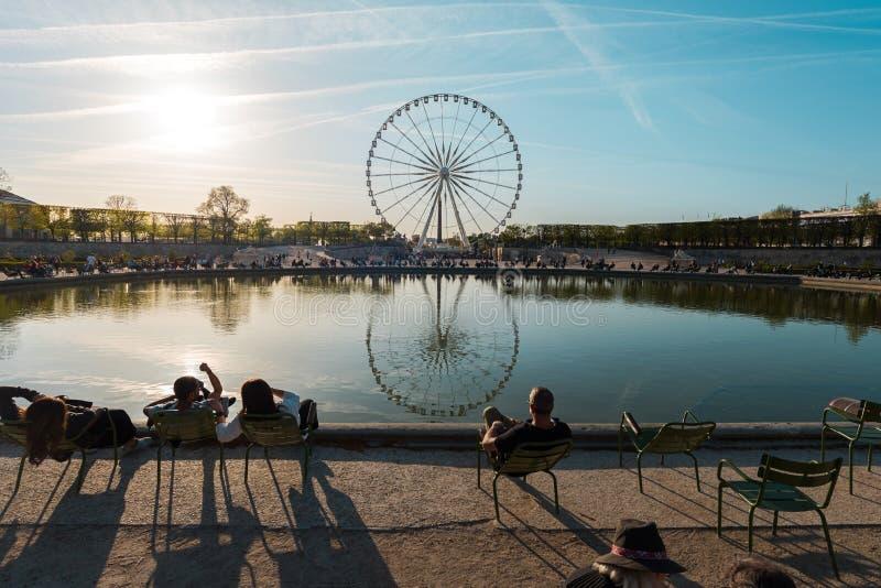 ΠΑΡΙΣΙ, ΓΑΛΛΙΑ - άνοιξη του 2018 circa: Πανόραμα Roue de Παρίσι στοκ φωτογραφία