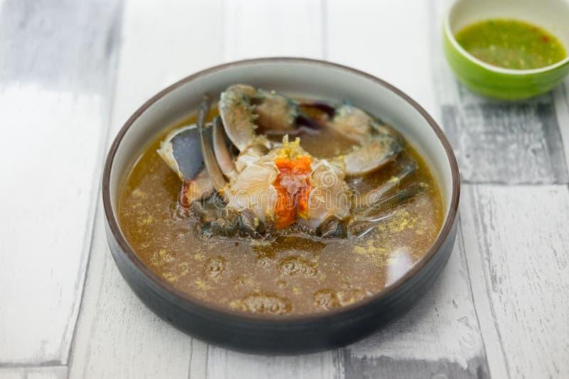 Παστωμένα αυγά καβουριών θάλασσας στη σάλτσα ψαριών, ταϊλανδικά τρόφιμα τήξης στοκ φωτογραφίες με δικαίωμα ελεύθερης χρήσης