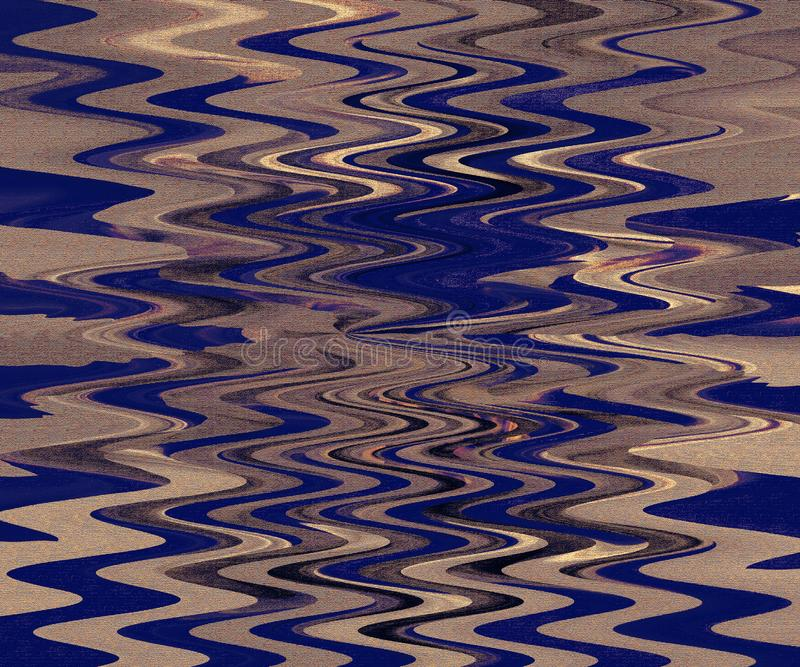 Παχιά τέχνη ελαιοχρωμάτων δημιουργημένο πλίθα λογισμικό τοπίου φύσης εικονογράφων Ζωηρόχρωμα σύσταση και υπόβαθρο Κατσαρωμένο διά διανυσματική απεικόνιση