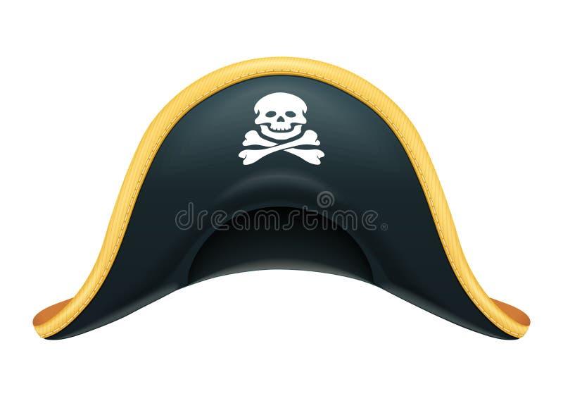 πειρατής καπέλων Κάλυμμα πειρατών Κοστούμι καρναβαλιού Καραϊβική κωλυσιεργία επίσης corel σύρετε το διάνυσμα απεικόνισης ελεύθερη απεικόνιση δικαιώματος
