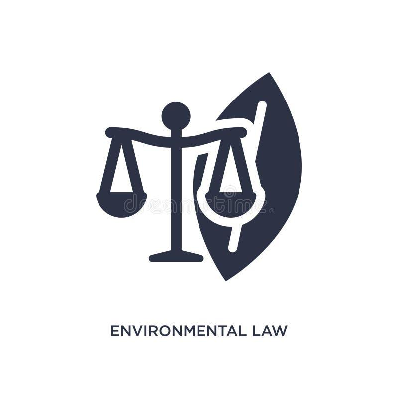 περιβαλλοντικό εικονίδιο νόμου στο άσπρο υπόβαθρο Απλή απεικόνιση στοιχείων από την έννοια νόμου και δικαιοσύνης διανυσματική απεικόνιση