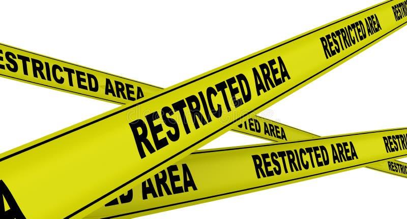 περιοχή που περιορίζετα& Κίτρινες ταινίες προειδοποίησης απεικόνιση αποθεμάτων