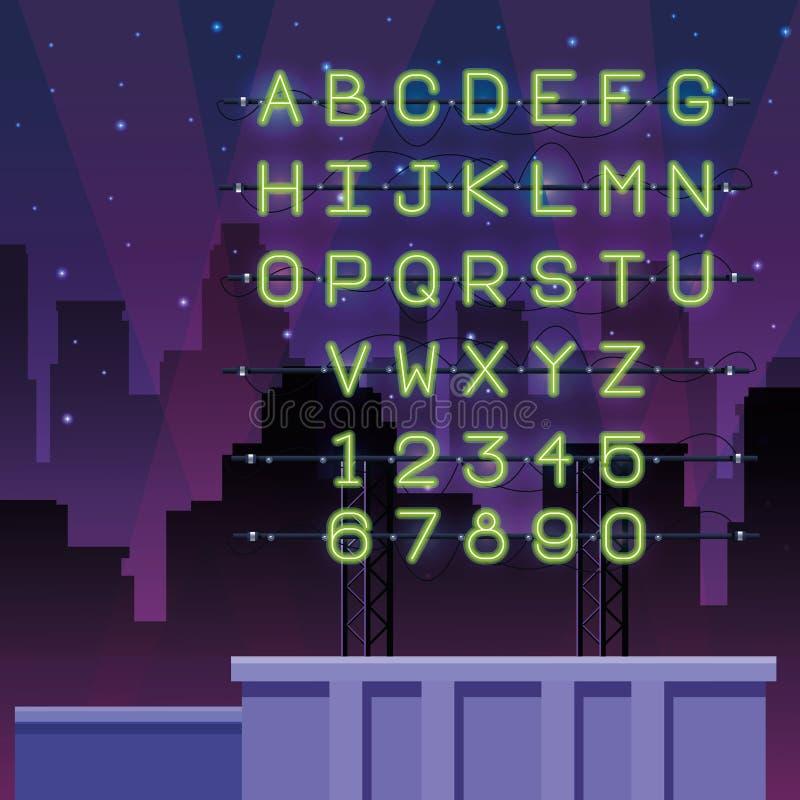 Πηγή αλφάβητου φω'των νέου ελεύθερη απεικόνιση δικαιώματος